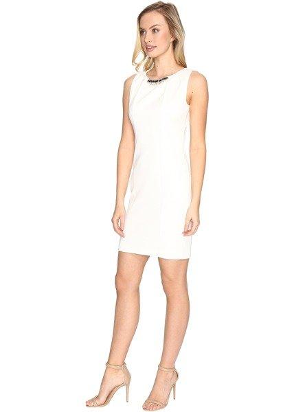 Rochie de Mireasa Scurta Ivory Jessica Simpson Embellished Neck Dress 2